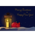 Christmas New Year Decorations background for vector image vector image