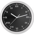 classic wall clock template vector image vector image