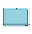 color electronic screen laptop technology icon vector image vector image
