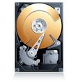 Computer Hard disk drive HDD vector image vector image