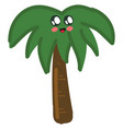 cute palm tree on white background vector image vector image