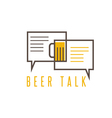 design template of beer talk concept vector image