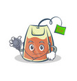 doctor tea bag character cartoon vector image vector image