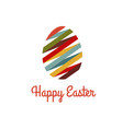 easter eggs colored graphic vector image