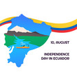 ecuador independance day flag for web vector image