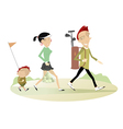 Family golf vector image