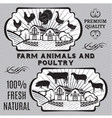 Farm animals and poultry vector image vector image