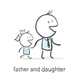 Father and daughter vector image vector image