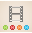 film strip icons vector image vector image