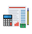Financial report concept vector image vector image