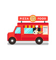 food truck at street food festival vector image vector image