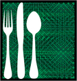 Fork spoon and knife vector image vector image