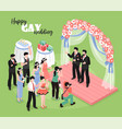 gay wedding isometric vector image