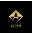Golden A letter vector image vector image