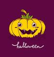halloween of decorative yellow color pumpkin on vector image vector image