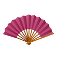 hand fan icon traditional decoration and vector image