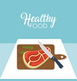 healthy and delicious food vector image