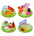 isometric online shopping concept mobile payment vector image vector image