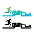 logotype of gym vector image