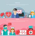 medicine flat banners vector image