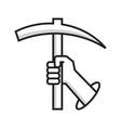mining hand logo vector image
