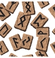 Norwegian runes Abstract background with Template vector image