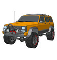 orange off road vehicle on white background vector image vector image