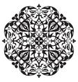 Oriental decorative element Zentangle mandala vector image