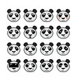 panda emoticon vector image vector image