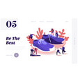people wearing sneakers website landing page vector image vector image