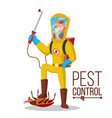 pest control service sanitation cleaner vector image