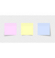 post note set colored sheets note papers vector image vector image