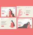 pregnancy and maternity landing page set vector image vector image