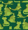 prehistoric rabbit dinosaur seamless pattern dino vector image vector image