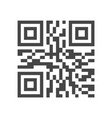 Qr code identification line icon 48x48 pixels