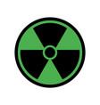 radioactive symbol vector image vector image