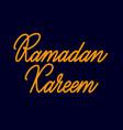 ramadan kareem lettering hand drawn text vector image