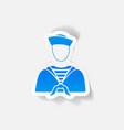realistic design element sailor vector image