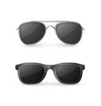 realistic sunglasses front view plastic glasses vector image