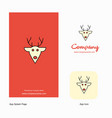 reindeer company logo app icon and splash page vector image vector image