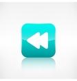 Reverse or rewind icon Media player vector image vector image