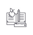 schooling line icon concept schooling vector image