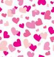 seamless pattern with colored hearts vector image vector image