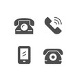 set icons of phone vector image vector image