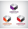 set of abstract origami geomeric icons vector image vector image