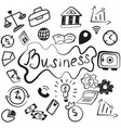 set of business hand made finance icons vector image