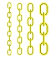 Set of Different Yellow Metal Chains vector image