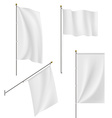 Set of flags and banners isolated on white vector image vector image