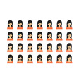 Set of people emoticon vector image vector image