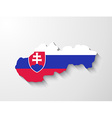 slovakia map with shadow effect presentation vector image vector image
